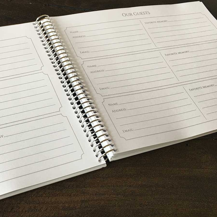 Memorial Guest Book Page Alternatives