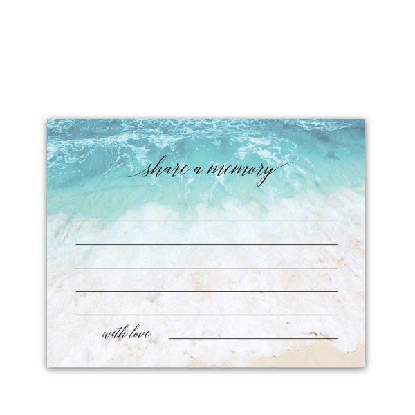 Share a Memory Card Beach Ocean Memorial Cards Favorite Memory