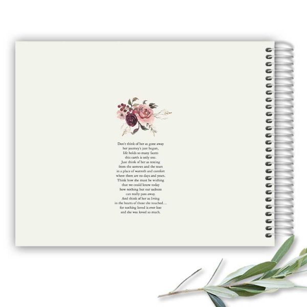 Funeral Sign In Guest Book Spiral Bound Dreamcatcher