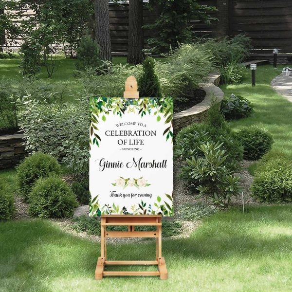 Celebration of Life Decorations Welcome Sign Greenery