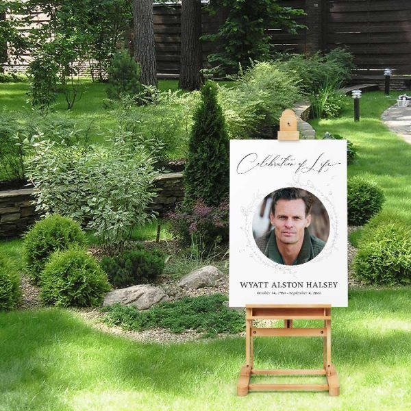 Photo Welcome Sign Template Celebration of Life Funeral Decor