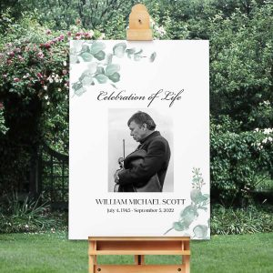 Celebration of Life Sign Welcome Photo Sign for Funeral