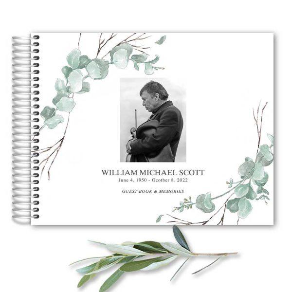 Funeral Guest Registry Book Keepsake