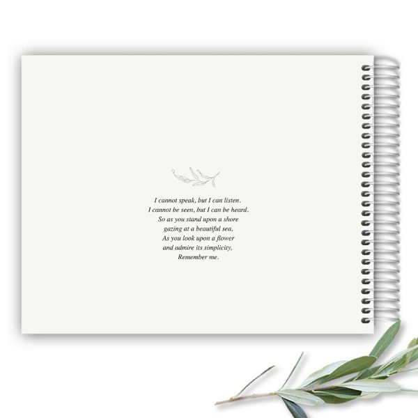 Custom Funeral Guest Sign-in Book Designed with Photo