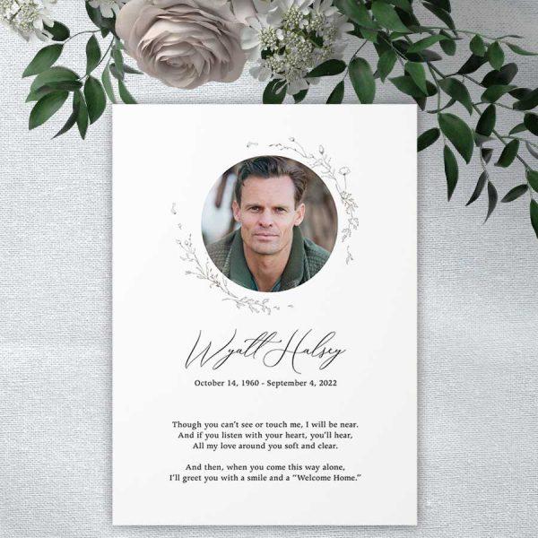 Photo Cards Life Celebration Keepsake Tribute to Loved One