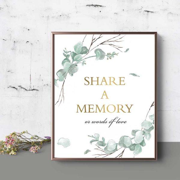 Memorial Service Favorite Memory Sign Funeral Decor