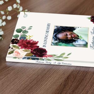 Personalized Funeral Guest Book
