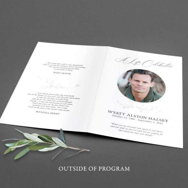 Folded Funeral Brochure Template for A Memorial Service