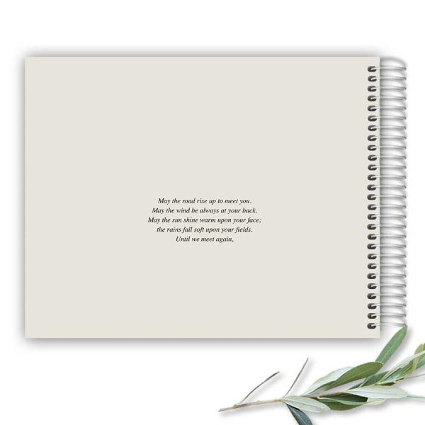 Elegant Funeral Guest Sign in Book Lined Pages Memory