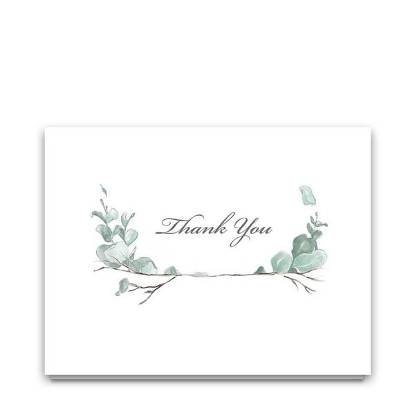 Custom Funeral Thank You Cards Folded For Memorials