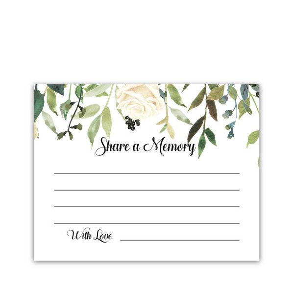 Favorite Memory Card Memorial Service Funeral Handouts