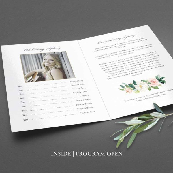 Printed Funeral Service Booklet Program Brochure Custom