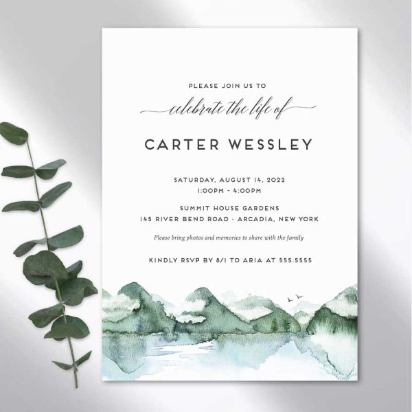Mountain Celebration of Invitations for Outdoor Enthusiast