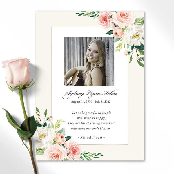 Personalized Funeral Tribute Cards Life Celebration Keepsake