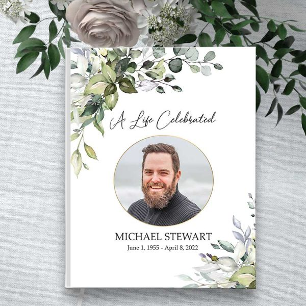 Keepsake Guest Book for Funeral and Memorial Services