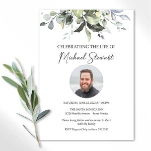 Celebration of Life Invites with A Photo