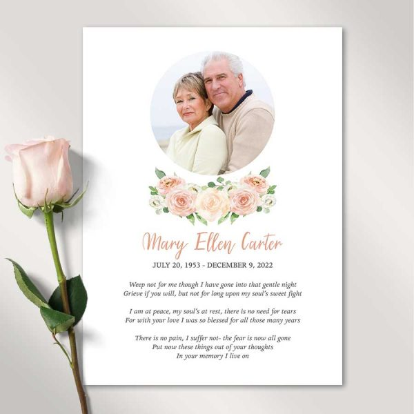 Funeral Gift Photo Tribute Cards Life Celebration Keepsake