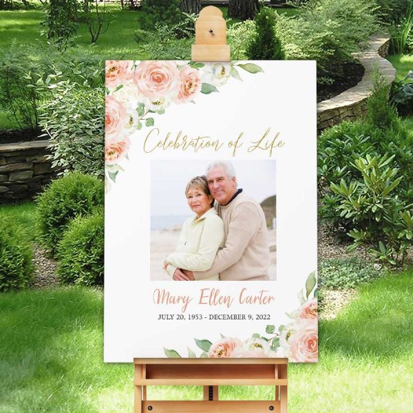 Celebration of Life Posters Photo Welcome Sign Funeral
