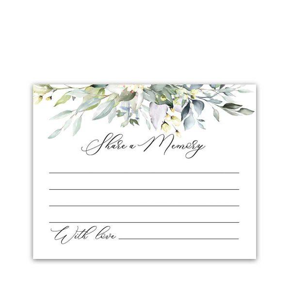 Memorial Share A Memory Card Template Printable File Celebration