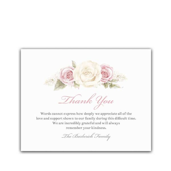 Funeral Thank You Card Printable Template
