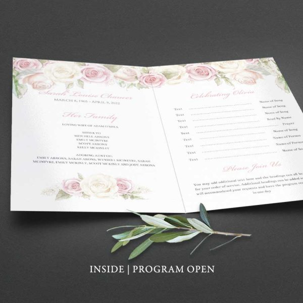 Printed Funeral Program Brochure Customized for You