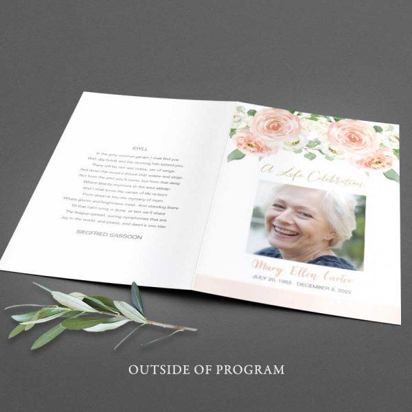 Memorial Program Templates Customized Printable 8.5 x 11
