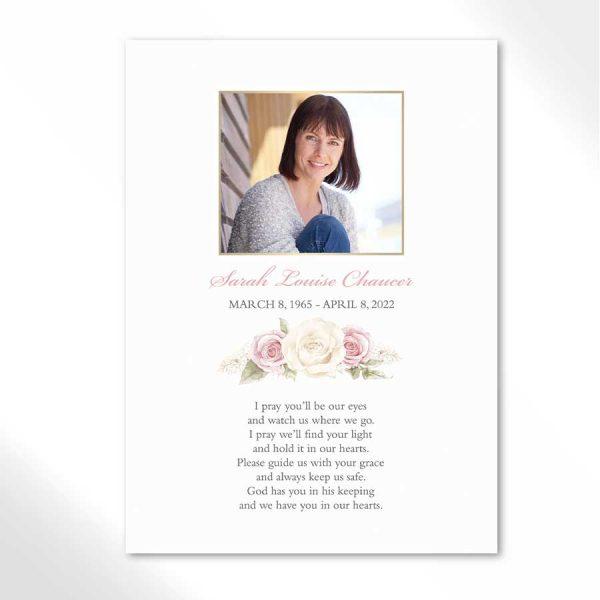 Remembrance Cards Life Celebration Keepsake