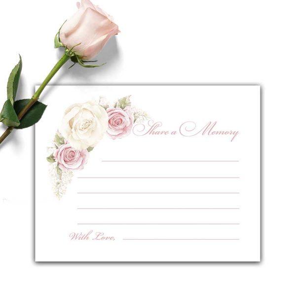 Feminine Share A Memory Cards for Memorial Services