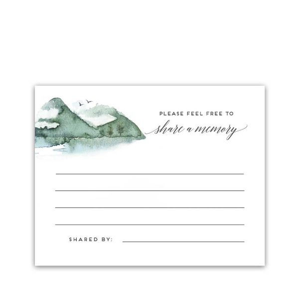 Mountain Share A Memory Card Template For Memorials And Funerals