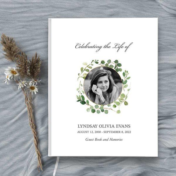 Funeral Signature Books Customized