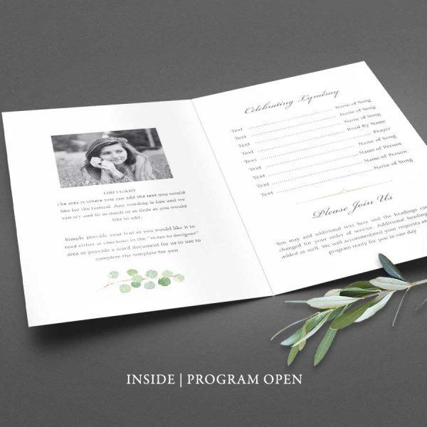 Memorial Service Program Outline Customized