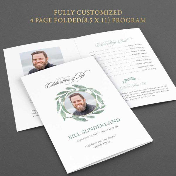 Folded Memorial Program Template