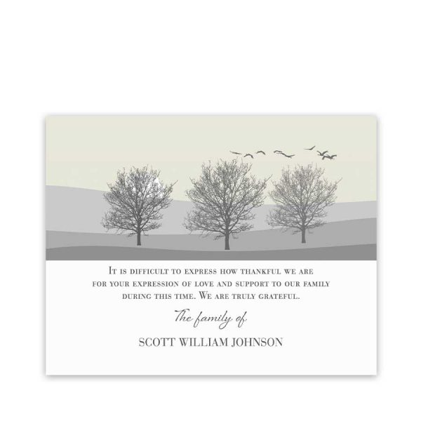 Sympathy Thank You Note Template
