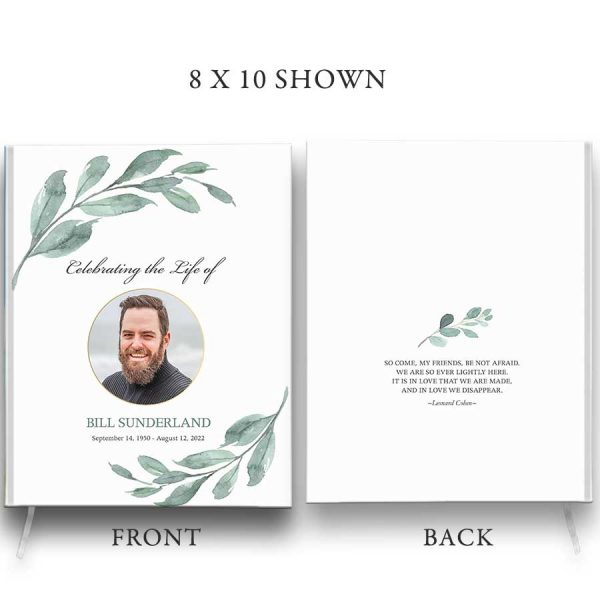 Funeral Guest Books Customized with Photo