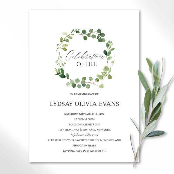 Memorial Service Invitation Printable