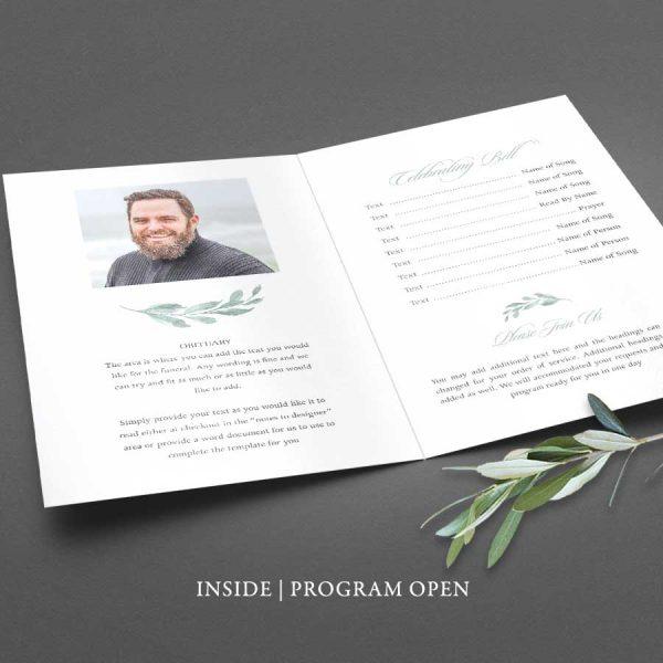 Custom Bi-Fold Funeral Program