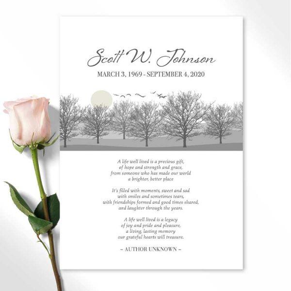 Funeral Keepsake Tribute Cards Customized