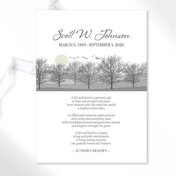Funeral Mass Card Template Keepsake