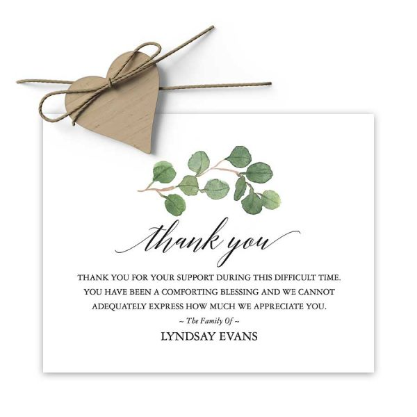 Custom Funeral Thank You Card