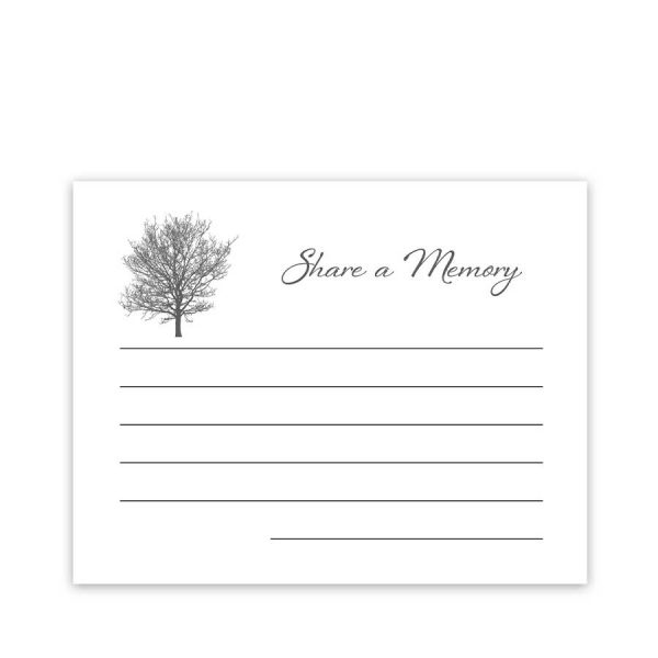 Funeral Cards Share A Memory Template Printable