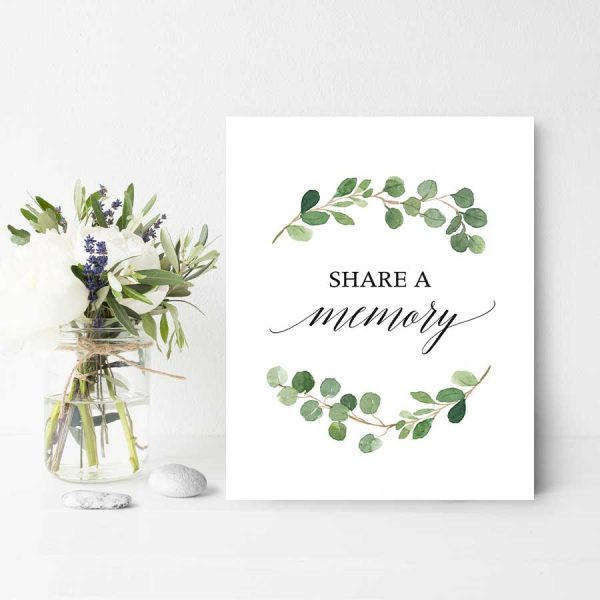Funeral Share A Memory Templates