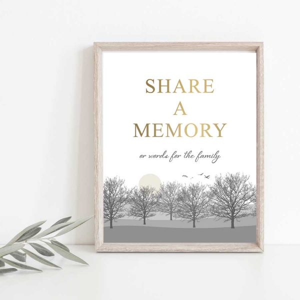 Celebration of Life Decor Memory Table Sign