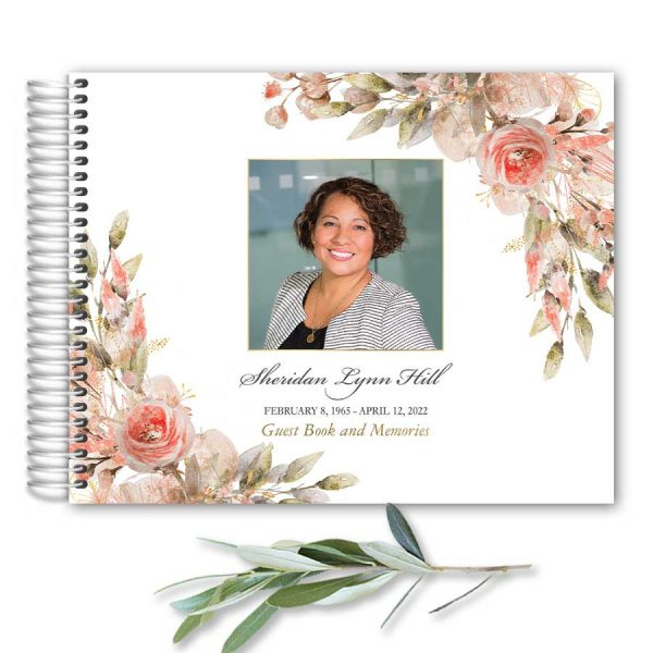 Funeral Guest Book Photo Keepsake for Family