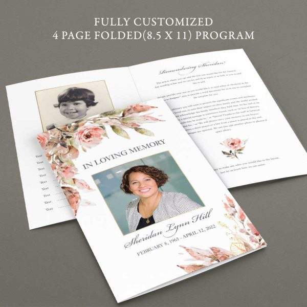Funeral Program Template For a Woman