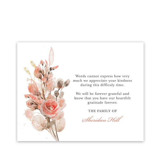Sympathy Thank You Cards Customized for You