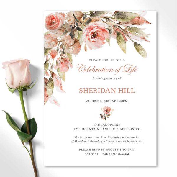 Celebration of Life Invitation Download
