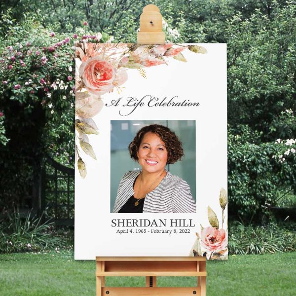 Funeral Welcome Sign Customized with a Photo