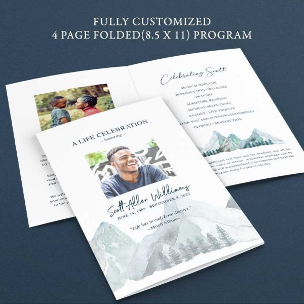 Program for A Memorial Service Mountain Outdoor Theme