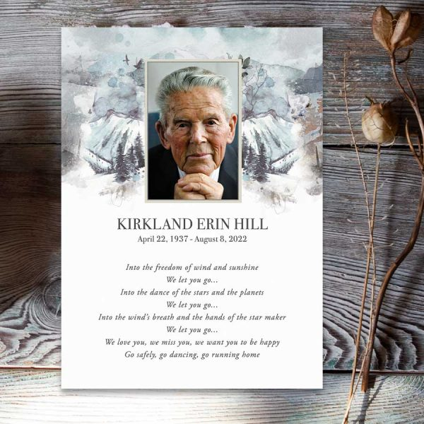 Funeral Tribute Cards Nature Themed For Life Celebrations