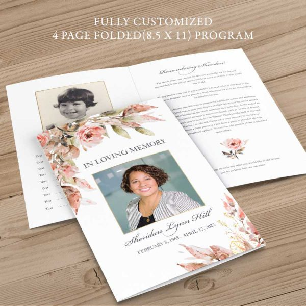 Funeral Program Brochure Customized for You